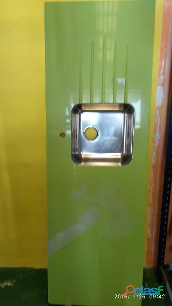 Encimera de silestone con fregador de una poza