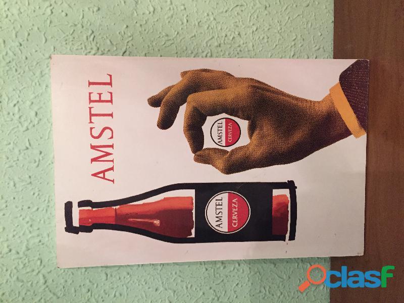 Cartel cerveza AMSTEL