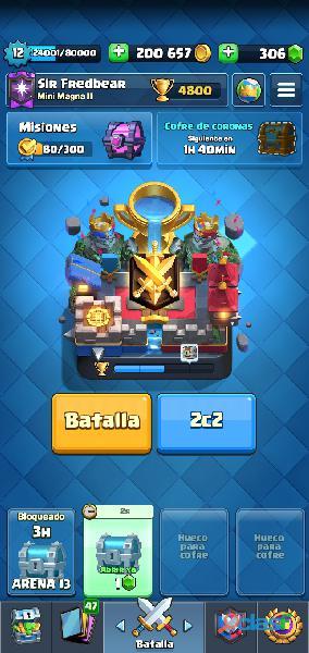 Cuenta de clash royale alta (free to play)
