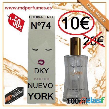 Perfume equivalente mujer nº 74 dky nuevo york 100ml 10€ alta gama marca blanca