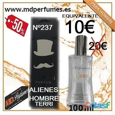 Perfume equivalente nº237 alienes hombre terri 100ml 10€ alta gama marca blanca