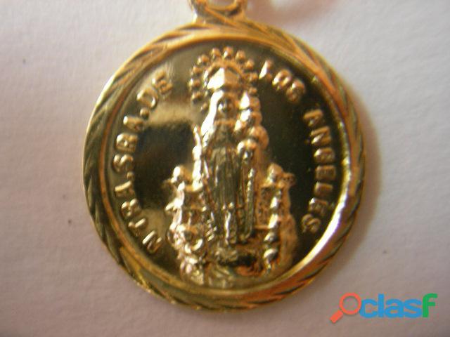 Medalla virgen de los angeles en oro,varios modelos