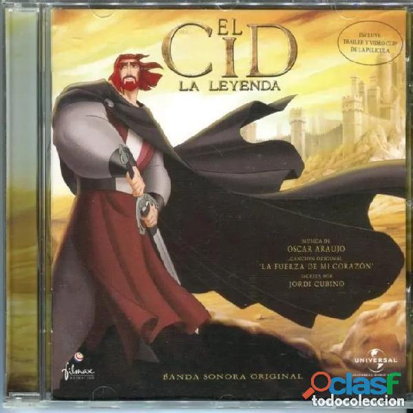 El cid: la leyenda / oscar araujo cd bso   universal music, 2003   muy buscado, dificilísimo.