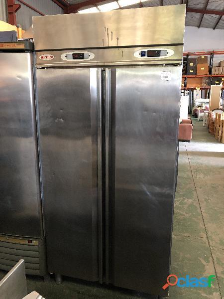 Frigo congelador de acero inoxidable