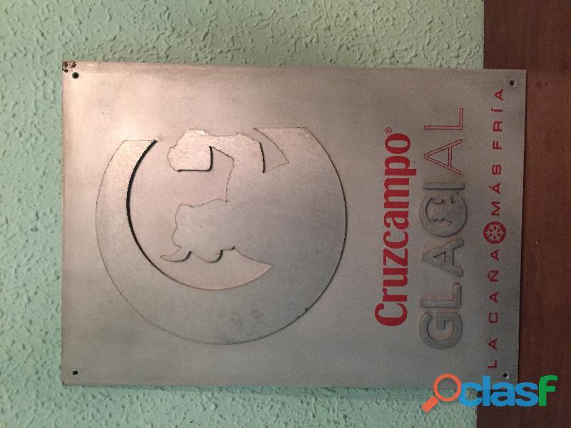 Cartel metálico cerveza Cruz Campo