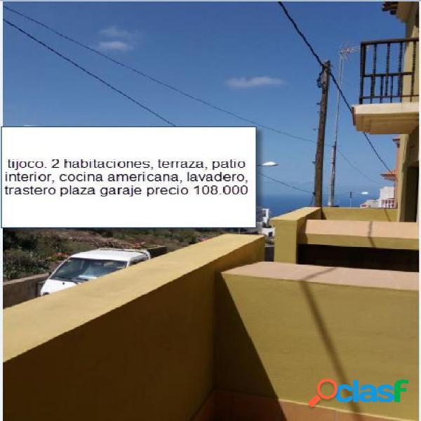 Tijoco-75m2- piso 2 habitaciones, terraza, patio, lavadero, trastero y plaza garaje