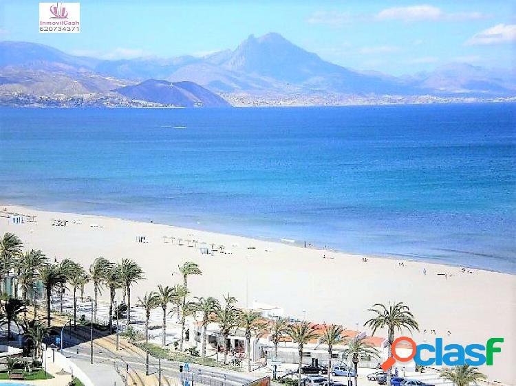 Primera línea playa de san juan, urbanización completa y vistas privilegiadas al mar. 344.000€
