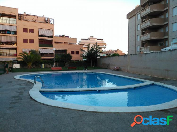 Apartamento canet d´en berenguer zona playa 2 habitaciones terraza piscina