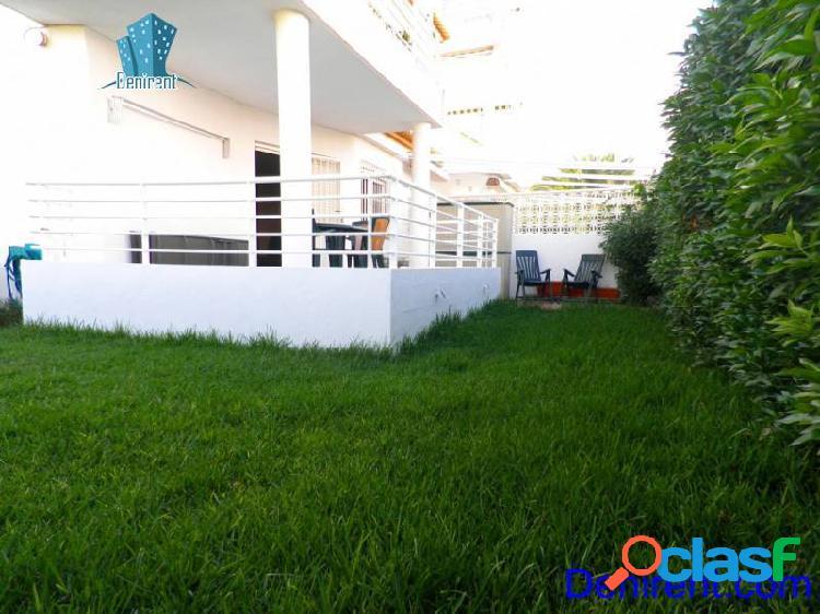 Apartamento en 1º línea de playa con 70 mts de jardín