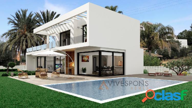 Proyecto de villa moderna en dénia, costa blanca, alicante