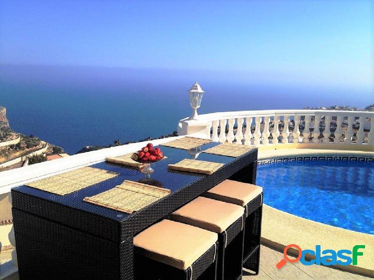Preciosa villa con vistas mar desde todas las estancias, cumbre del sol