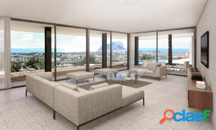 Proyecto de una villa moderna de lujo con maravillosas vistas al mar