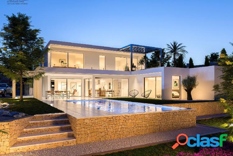 En construcción: moderna villa de lujo en venta a solo 1.500 m del mar en benissa.