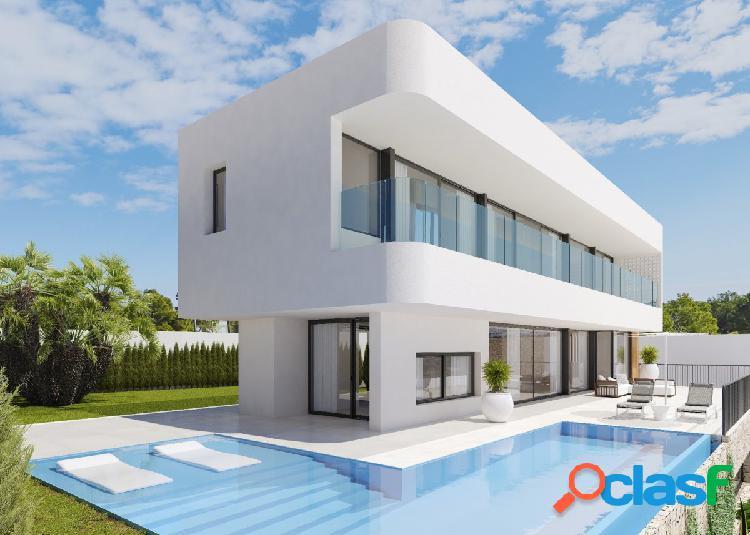 Villa moderna de nueva construcción con vistas al mar en zona tranquila de finestrat.