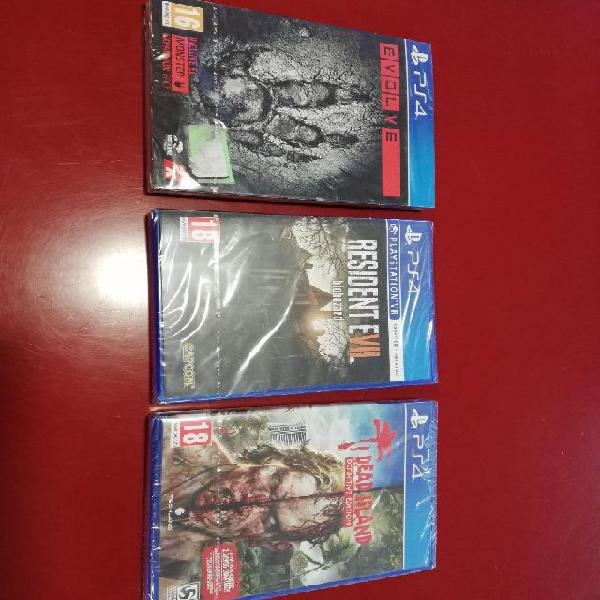 Pack 3 juegos ps4 dead island+resident evil vii+evolve