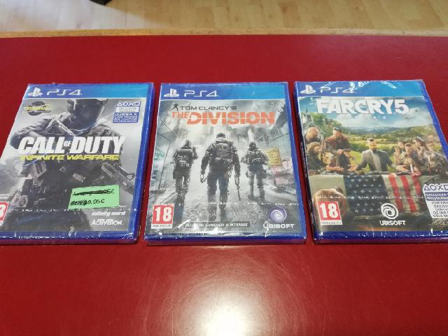 Pack 3 juegos ps4 farcry5+call of duty infinite+tom clancy