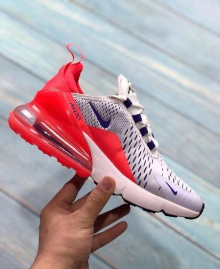 Nike air max 270 read and white shoes