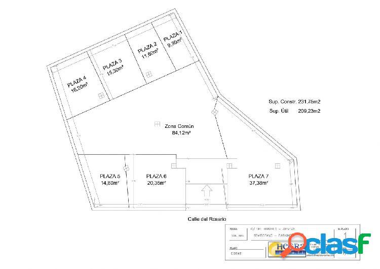 Se vende Local con uso actual de parking, 232m2 en Semisótano, en Arneva - Orihuela. (Alicante)