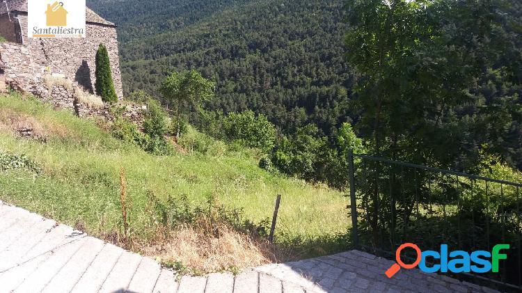 Parcela para la construcción de casa unifamiliar en arros, valle de aran, soleada, vistas.