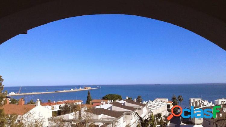 Apartamento de dos dormitorios. parking. vistas al mar y a 150 m. del paseo y playas.