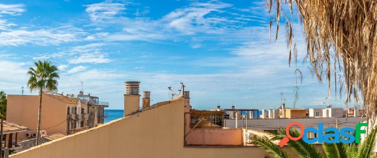 Casa en el molinar a 100m del mar con terraza solárium y jardín. palma
