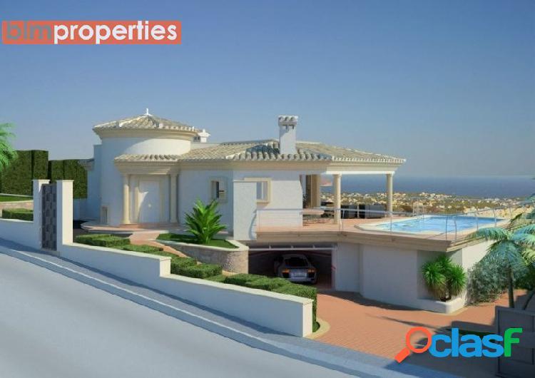 Villa en calpe con vistas al mar, marina alta, costa blanca, alicante