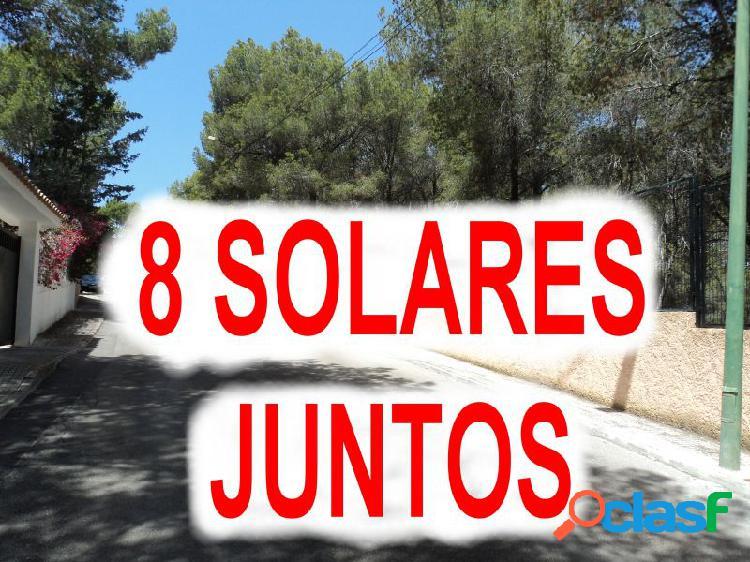 Conjunto de 8 solares, colindantes, en costa de la calma - calvià. total 8.200 m2 de superficie.