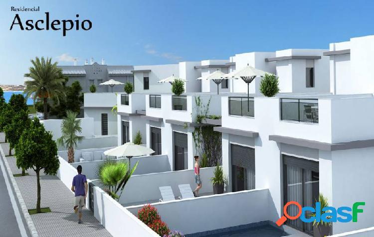 Residencial con chalets individuales y pareados.