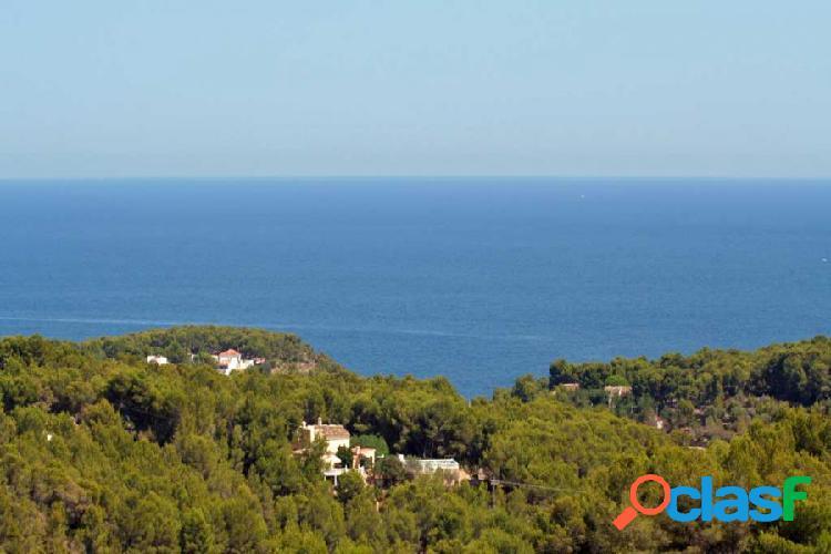 Parcela en pedremala, benissa con vistas panoramicas al mar de moraira a calpe