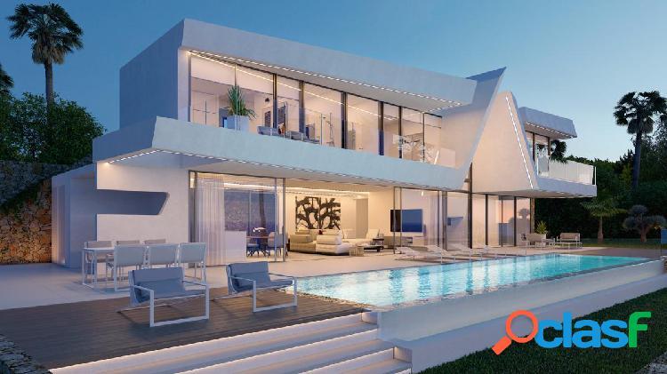 En venta, villa de lujo. moraira con vistas panoramicas al mar