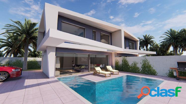 Nuevas villas pareadas cerca de playa en gran alacant