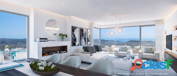 Apartamentos contemporáneos de diseño vanguardista en plena naturaleza, en mijas