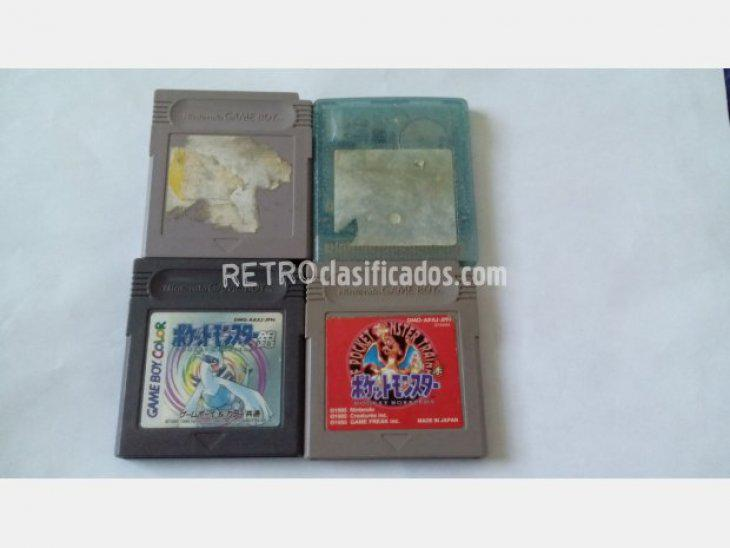 Se vende GAMEBOY POKEMON ROJO PLATA AMARILLO GLAS
