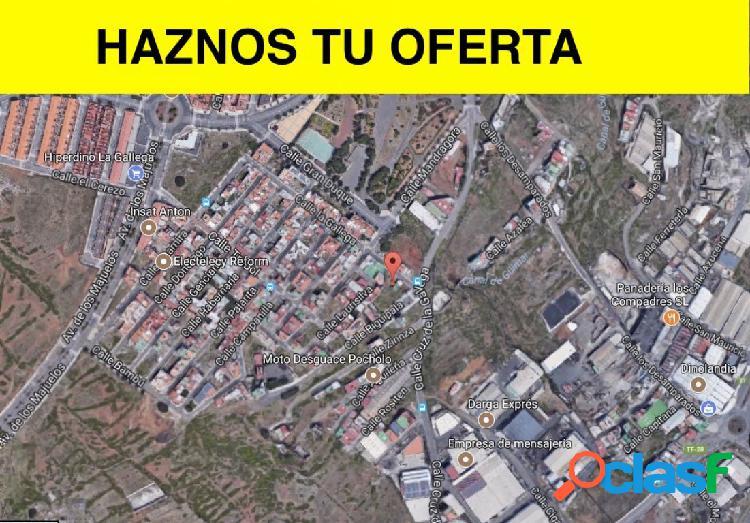 Terreno urbano en barranco grande, procedente de entidad bancaria, con financiación preferente!!!!!