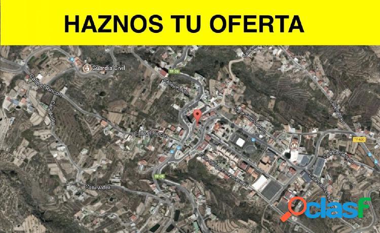 Terreno urbano en fasnia, procedente de entidad bancaria, con financiación preferente!!!!!