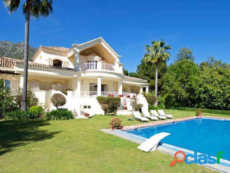 Maravillosa villa para temporada larga en sierra blanca, marbella