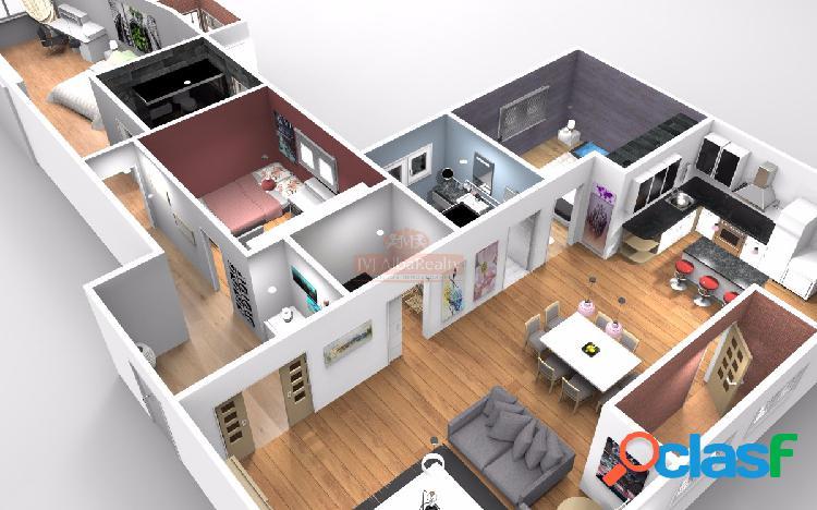 Se vende piso en zona plaza gabriel lodares 107 m2, con la reforma incluida, garaje opcional