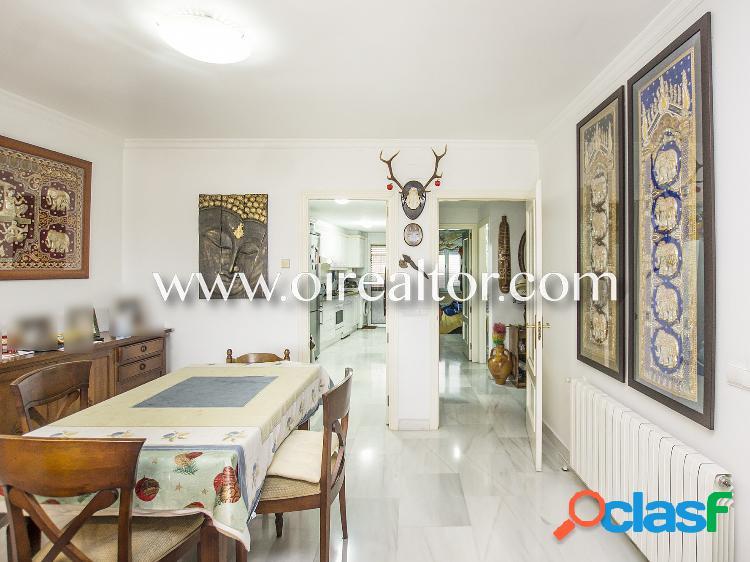 Precioso piso en venta con jardín de 400m2 en blanes, costa brava