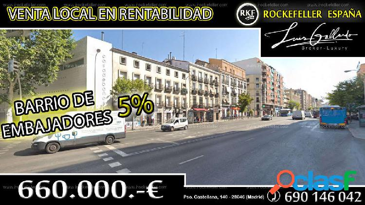 Venta local comercial - embajadores, centro, madrid [219721/local rentabilidad]