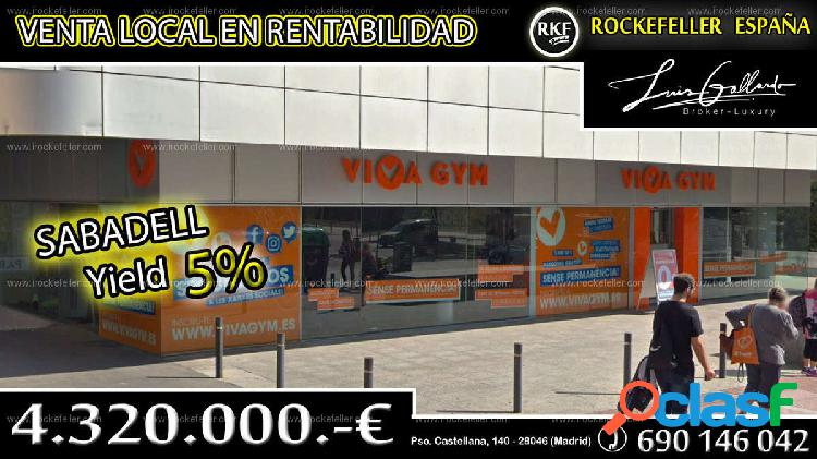 Venta local comercial - sabadell, barcelona [218885/local rentabilidad]