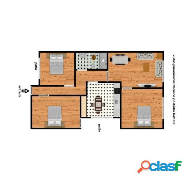 Piso 3 dormitorios vistas panorámicas naranco. oviedo
