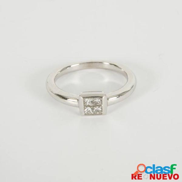 Anillo oro blanco con diamantes de segunda mano e268642c