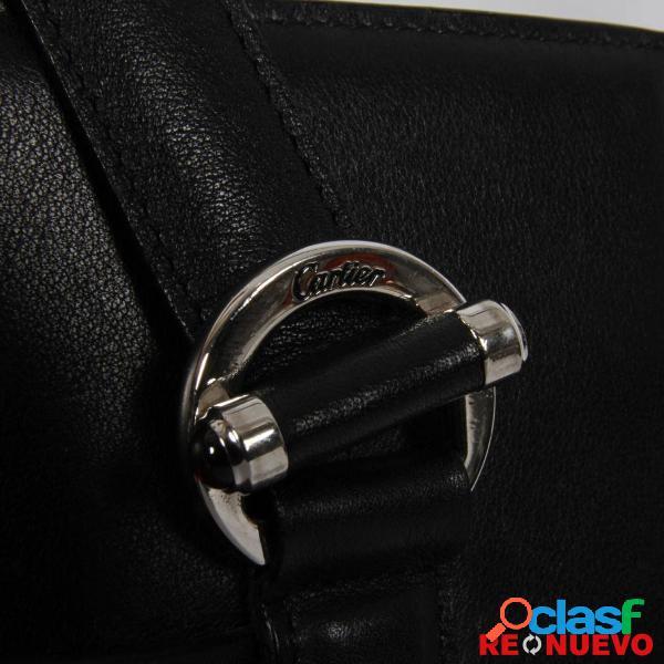 Bolso CARTIER negro de segunda mano E296087 1