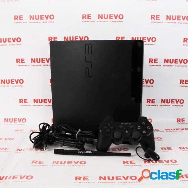 Consola ps3 slim de 320gb + mando + headset de segunda mano e297572