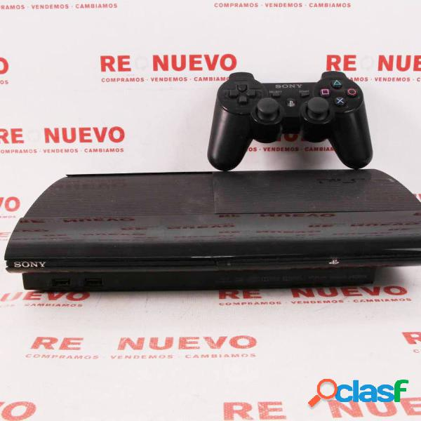 Consola ps3 superslim de 500 gb + mando de segunda mano e294699