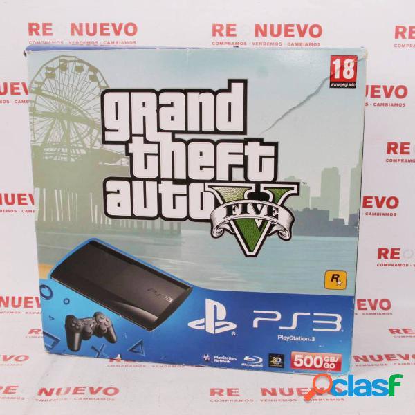 Consola PS3 SuperSlim de 500 GB + Mando de segunda mano E294699 3