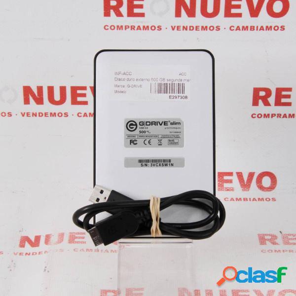 Disco duro G-DRIVE de 500 GB de segunda mano E297308 1