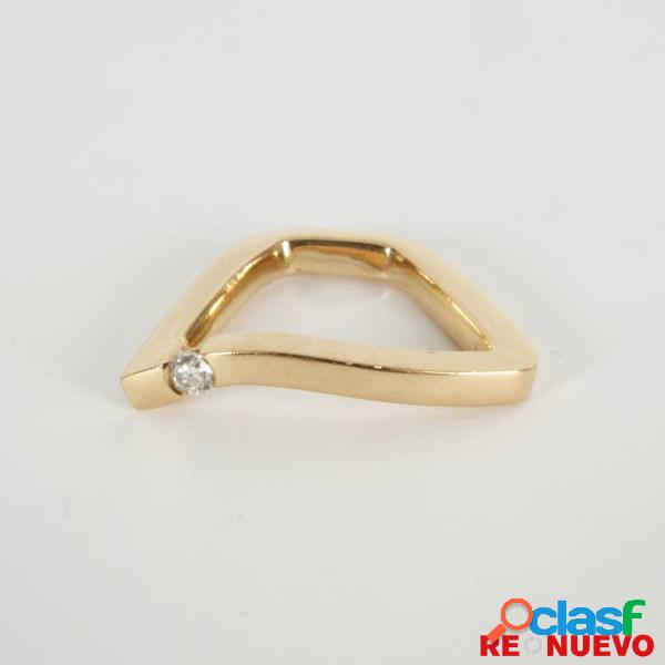 Anillo de segunda mano de oro de 18 kts con un diamante e279069a