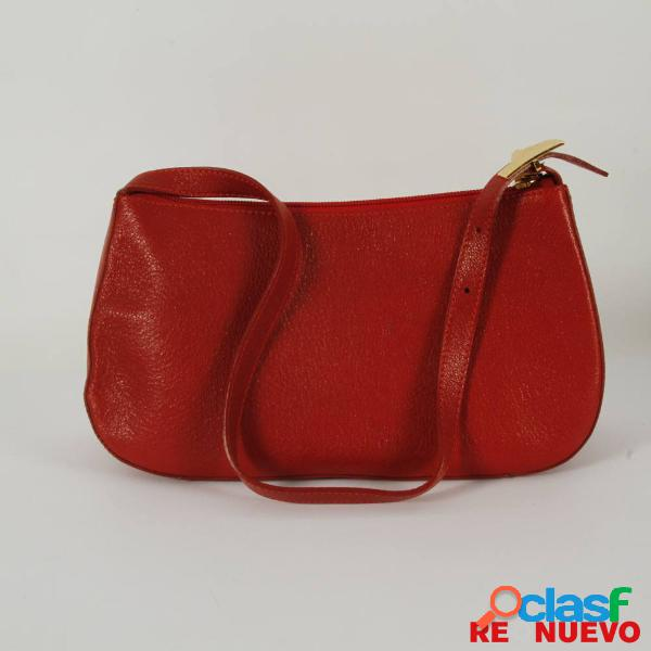 Bolso versace rojo de piel de segunda mano e305657