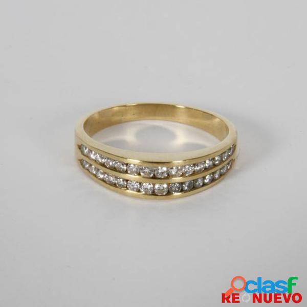Media alianza de oro con diamantes de segunda mano e291124c